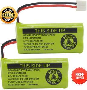 2 Pack Replacement Rechargeable Battery for VTech ATT Phones BT18433 BT28433
