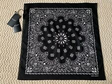 NWT Saint Laurent Black White Logo Bandana Print Scarf KIM KANYE WEST RUNWAY