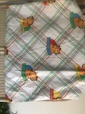 Vintage Garfield Full Fitted Bed Sheet Malborough Made In USA