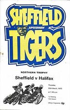 Speedway Programme>SHEFFIELD TIGERS v HALIFAX DUKES Mar 1972