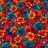 Paradise Chong-A Hwang Timeless Treasures Fabric Paradise-C 4713 Bright Floral