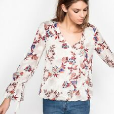 La Redoute Embroidered Floral Print Blouse Size UK 18 Lf089 PP 15