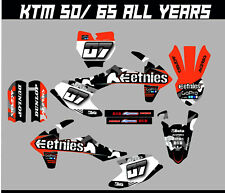 KTM SX 50 SX 65 FULL GRAPHICS KIT DECALS MOTOCROSS STICKERS ALL YEARS
