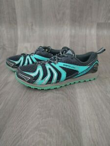 WOMENS SLAZENGER GREEN SILVER AERO LITE LACE UP TRAINERS SHOES UK 5 EUR38