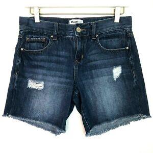 william rast walking shorts dark wash denim size 25 0