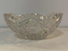 Antique American Brilliant Period ABP Cut Glass Bowl