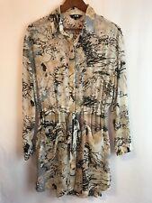 Elliatt Dress Sheer Light Weight Pockets Belt Long Sleeve Size Small (k12)