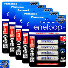 20 x Panasonic Eneloop AAA batteries 750mAh Rechargeable Ni-MH HR03 Phone 4 Pack