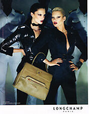 PUBLICITE ADVERTISING   2009   LONGCHAMP  maroquinerie KATE MOSS