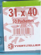1 Blister 50 Pochettes Transparentes simple soudure 31x40