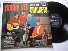 BOBBY VEE MEETS THE CRICKETS (London)  1963 LP -  EX/EX
