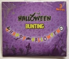HAPPY HALLOWEEN 3 METRE BUNTING HANGING DECORATION, INDIVIDUAL LETTERS, NEW