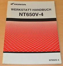 Werkstatthandbuch HONDA NT650V-4  Stand Juli 2003  ZUSATZ
