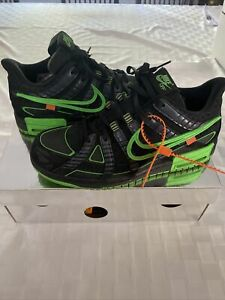 Off White x Nike Rubber Dunk Green Strike Size 9 Men's VNDS