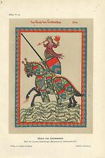 1910 Ulrich von Lichtenstein nach Heidelberger Liederhandschrift Reproduktion