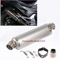 Universal Exhaust Muffler Pipe with Removable DB Killer Slip 38-51mm Motorcycle