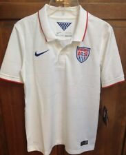Nike US Soccer USA Jersey 2014 World Cup White Home Boys Youth L NWT $75 578018
