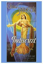 INDISCREET Movie POSTER 27x40 Gloria Swanson Ben Lyon Arthur Lake