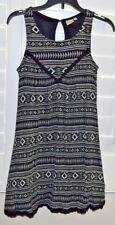 UC! Girl's Black & White MUDD dress sz 10 Geometrical sheath design