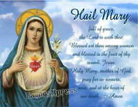 HAIL MARY PRAYER MAGNET VIRGIN MARY BLESSED MOTHER GIFT