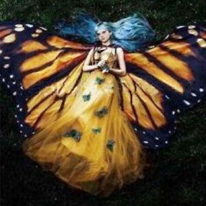 Butterfly Wings Cloak Shawl Beach Towel Halloween Makeup Props Dance Isis Wings