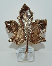 NEW BATH & BODY WORKS GOLD GLITTER MAPLE LEAF WALLFLOWER FRAGRANCE PLUG IN UNIT