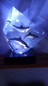 """RARE WYLAND """"FASTER, HIGHER, STRONGER"""" LUCITE SCULPTURE BEIJING 2008 OLYMPIC #32"""