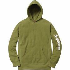 Supreme Sleeve Patch Hooded Sweatshirt Moss Medium SS17 box logo sage peach cdg