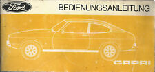 FORD CAPRI II 1976  Betriebsanleitung ´76 Bedienungsanleitung Handbuch BA