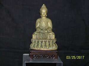 """Antique """"Old"""" Chinese/Tibetan Buddhism Hand Sculpted Statue w/Reign Mark"""