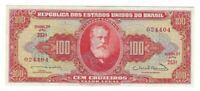 100 Cruzeiros Brasilien UNC 1963 C096 / P.180 - Brazil Banknote