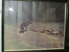 "Original Victor Kowalski Print 15""x11.5 ""The Lone Wolf"" National Art Co New York"