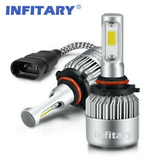 2 PCS HB3 9005 LED Car Headlights Kit Auto Headlamps 8000LM 6500K Single Beam