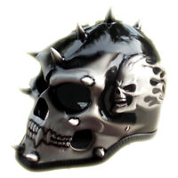 Silver Skull Man 3D Motorcycle Helmet Skeleton Custom Airbrushed NOVELTY Biker