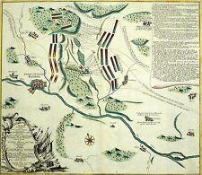 HASTENBECK (HAMELN) - Schlacht bei Hastenbeck 1757 - kolor. Kupferkarte 1757