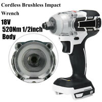 "For Makita Battery DTW285 520Nm Cordless Brushless Impact Wrench 1/2"" Body 18V"