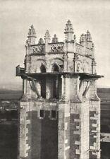 AIN. Brou. Clocher de L'Église 1895 old antique vintage print picture