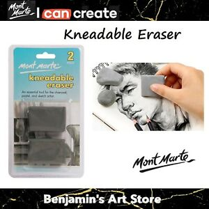 AU Mont Marte 2pc Kneadable Eraser Charcoal Pastel Sketch Artist Supply Tool
