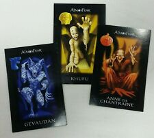 Atmosfear DVD Game Replacement Character Cards Anne Chantraine Khufu Gevaudan