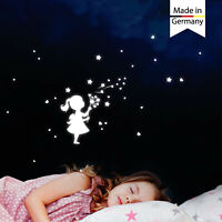 Leuchtaufkleber Kinderzimmer Mädchen Pusteblume Herz Sterne leuchten im Dunklen