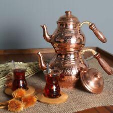 Turkish Double TeaPot Set / Fecra Hammered Copper Teapot