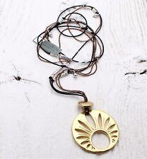 Pilgrim Collier Long Soleil Disque Solaire Symbole Pendentif Cuivre Or & Argent BNWT