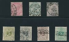Belgium (1884 - 1888) **7 USED EARLY ISSUES**; AS SHOWN; CV $50