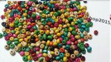 1000 WOOD WOODEN ROUND/RONDELLE BEADS SPACER BEADS JEWELLERY MAKING 3-4mm