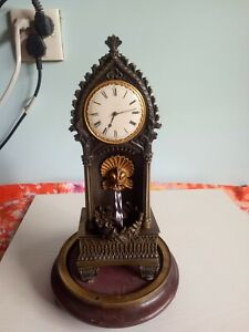 Antique French clock with copper and Mercury
