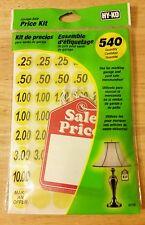 Hy-Ko Prod 30105 Garage Sale Price Kit - Price Stickers Paper & Lg Tags 540 Pc.