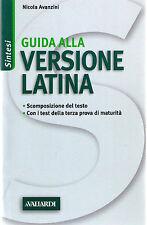 Guida alla versione latina - Nicola Avanzini - Libro nuovo in Offerta!
