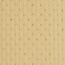 B653 Gold, Diamond Woven Jacquard Upholstery Fabric By The Yard