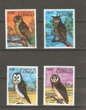 Vögel Eule Kongo Brazzaville 1458/61 postfrisch