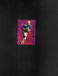 1997 Pacific Dynagon Careers PURPLE Parallel #8 Drew Bledsoe! Patriots!